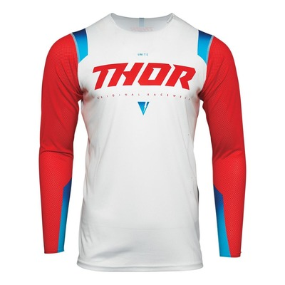 Maillot cross Thor Prime Pro Unite rouge/blanc