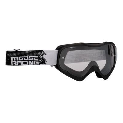 Masque cross Moose Racing Qualifier Agroid blanc/noir – écran clair
