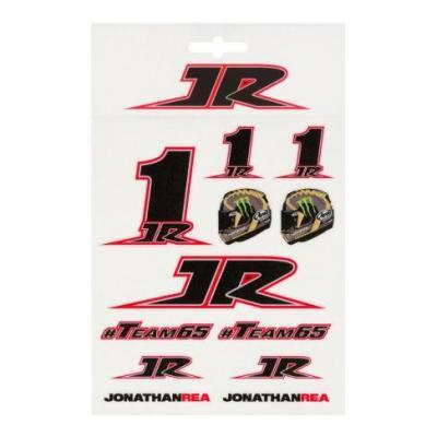 Planche d'autocollant Jonathan Rea 1JR (13,5 x 16cm)