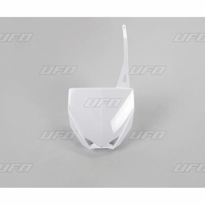 Plaque numéro frontale UFO Yamaha 85 YZ 15-21 blanc