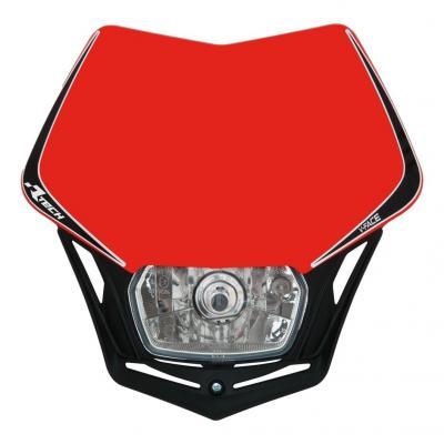 Plaque phare RTech V-Face rouge Honda et noire