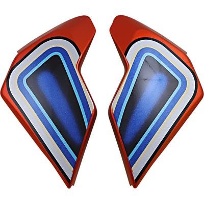 Plaques latérales Icon pour casque Airflite El Centro bleu/orange