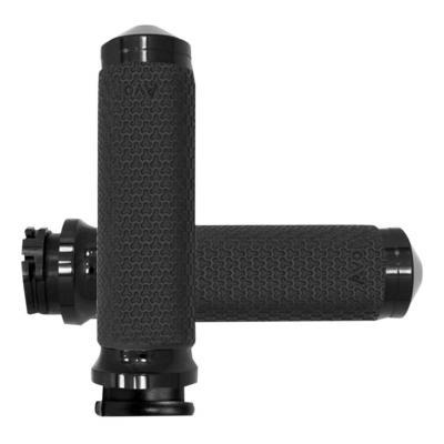 Poignées Avon Ø 35mm mémoire de formes tirage par câble embout arrondies Twin-Cam 99-17 noir