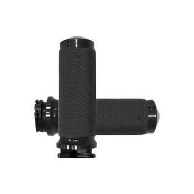 Poignées Avon Ø 41mm mémoire de formes tirage par câble embout pointes Twin-Cam 99-17 chrome