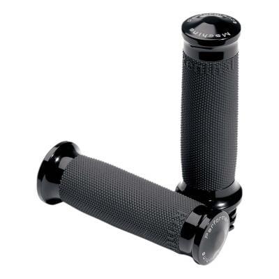 Poignées Machine Performance Contour renthal wrapped standard tirage par câble Twin-Cam 99-17 noir