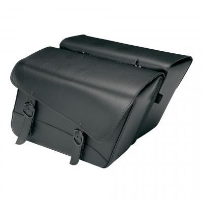 Sacoches latérales Willie & Max cuir synthétique modèle Raptor S design soft noire