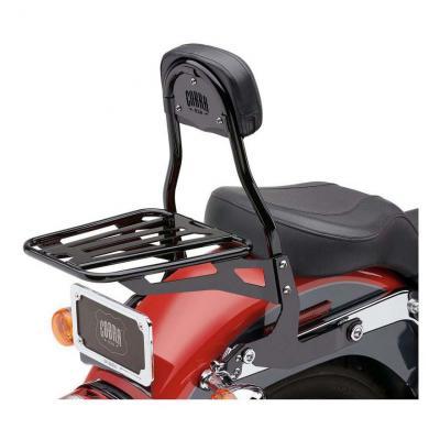 Sissybar amovible Cobra tube rond noir Harley Davidson FLSTF 1450 Fat Boy 00-03