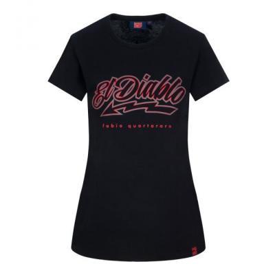 Tee-shirt femme Fabio Quartararo El Diablo noir