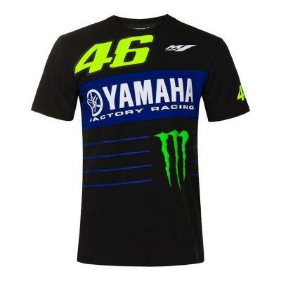 Tee-shirt VR46 Dual Sponsors noir 2020