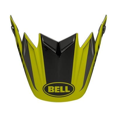 Visière casque Bell Moto-9 Division noir/jaune fluo/gris