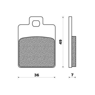 Plaquettes de frein Newfren Standard organique .FD.0249 BKS