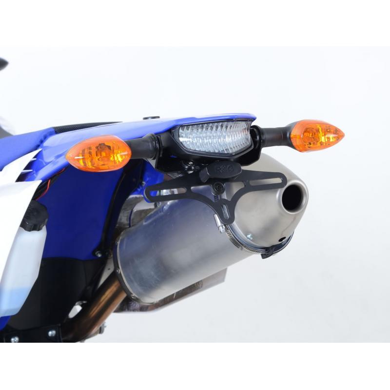 Support de plaque d'immatriculation R&G Racing noir Yamaha WR 450 F 12-15 - 2