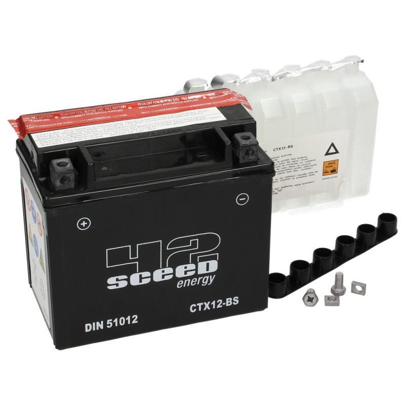 Batterie Sceed 42 YTX12-BS 12V 10Ah avec pack acide - 2