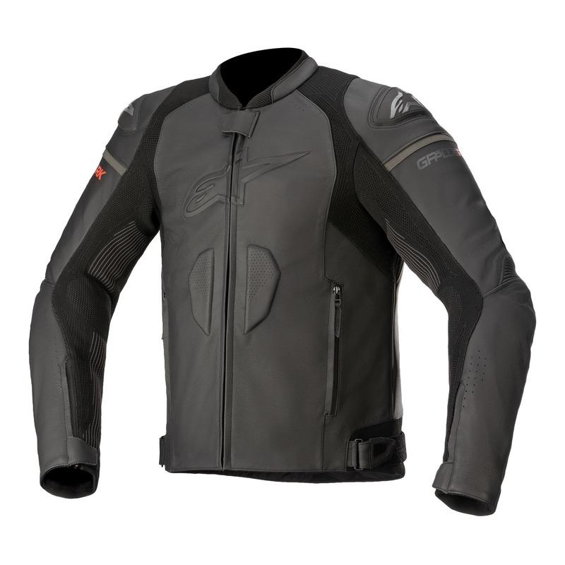 Blouson cuir Alpinestars GP Plus R v3 Rideknit noir/noir