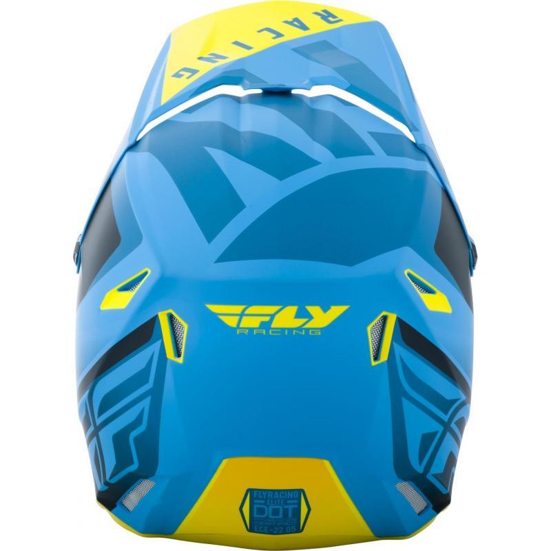 Casque cross Fly Racing Elite Vigilant bleu/jaune/noir - 3