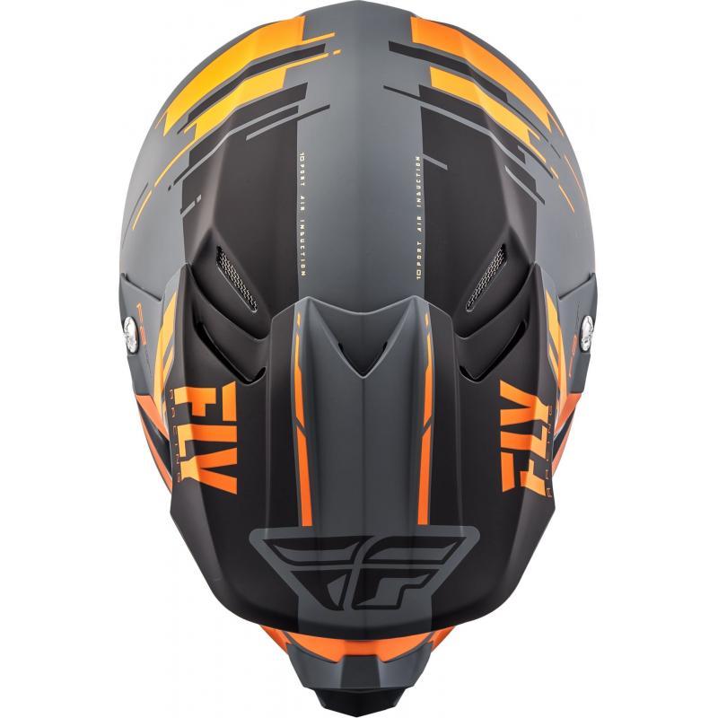 Casque cross Fly Racing F2 Carbon Forge noir/orange/gris - 3