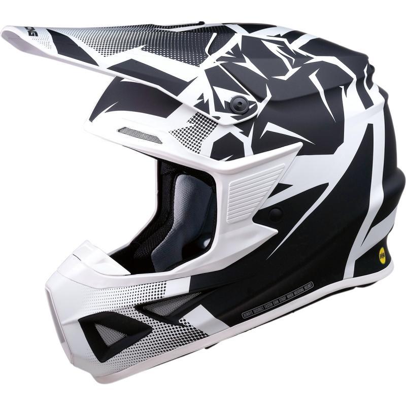 Casque cross Moose Racing FI Agroid MIPS noir/blanc