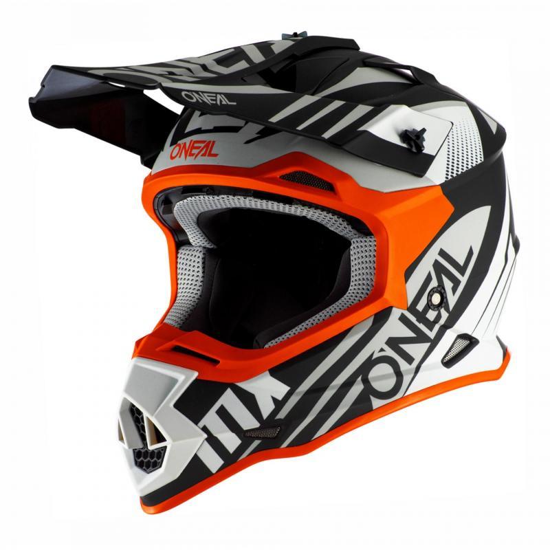 Casque cross O'Neal 2SRS Spyde 2.0 noir/blanc/orange