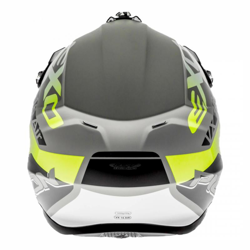 Casque cross Scorpion VX-16 Air Arhus Mat argent/noir/jaune fluo - 4