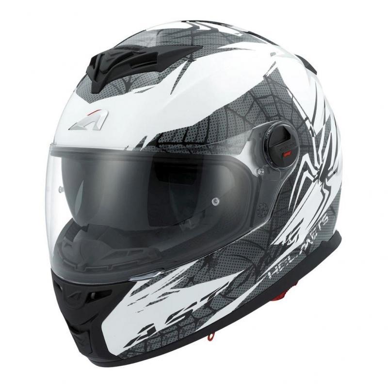 Casque intégral Astone GT800 exclusive SPIDER blanc/noir