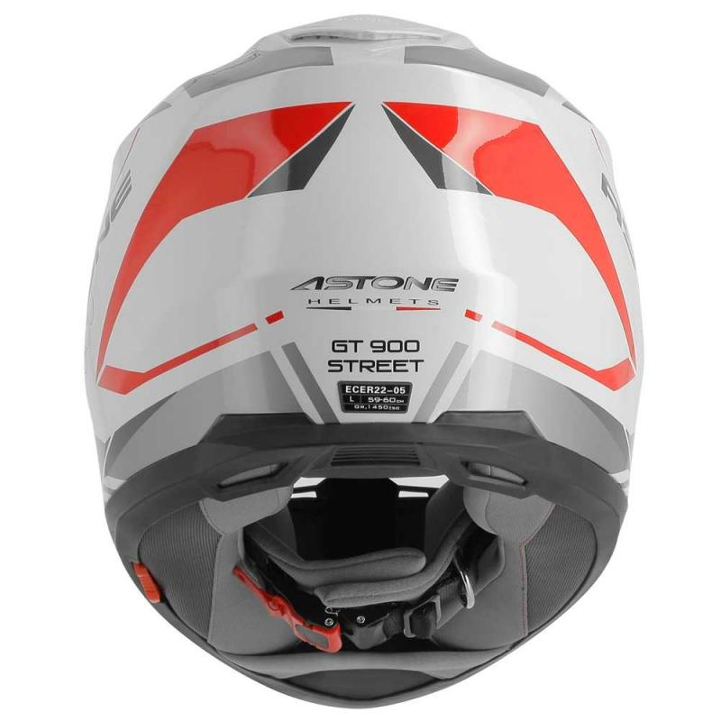 Casque intégral Astone GT900 exclusive STREET blanc/rouge - 3