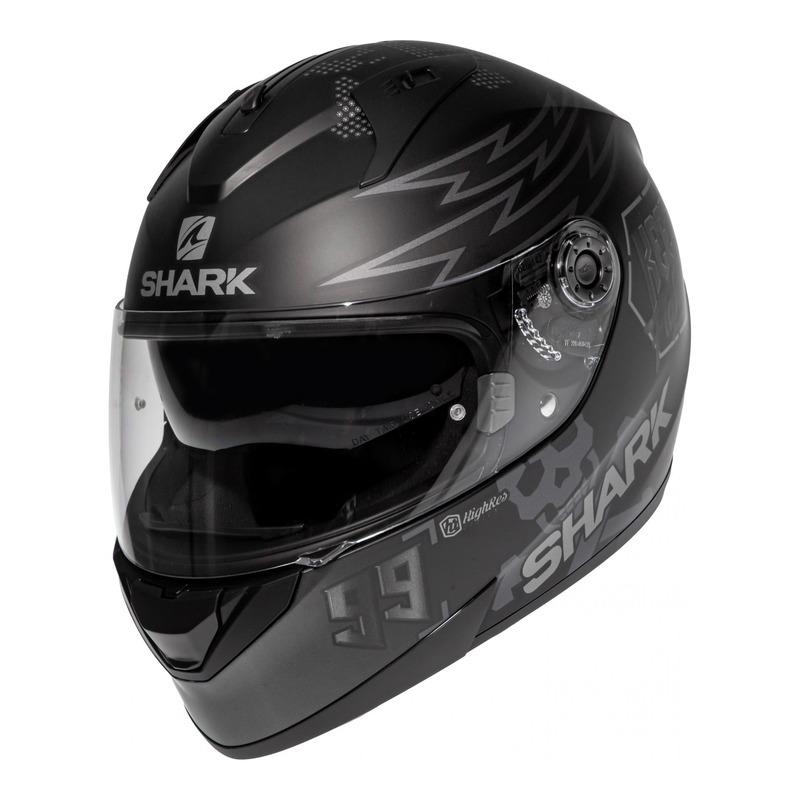 Casque intégral Shark Ridill 1.2 Bad Boy Replica Lorenzo Catalunya Mat gris/noir