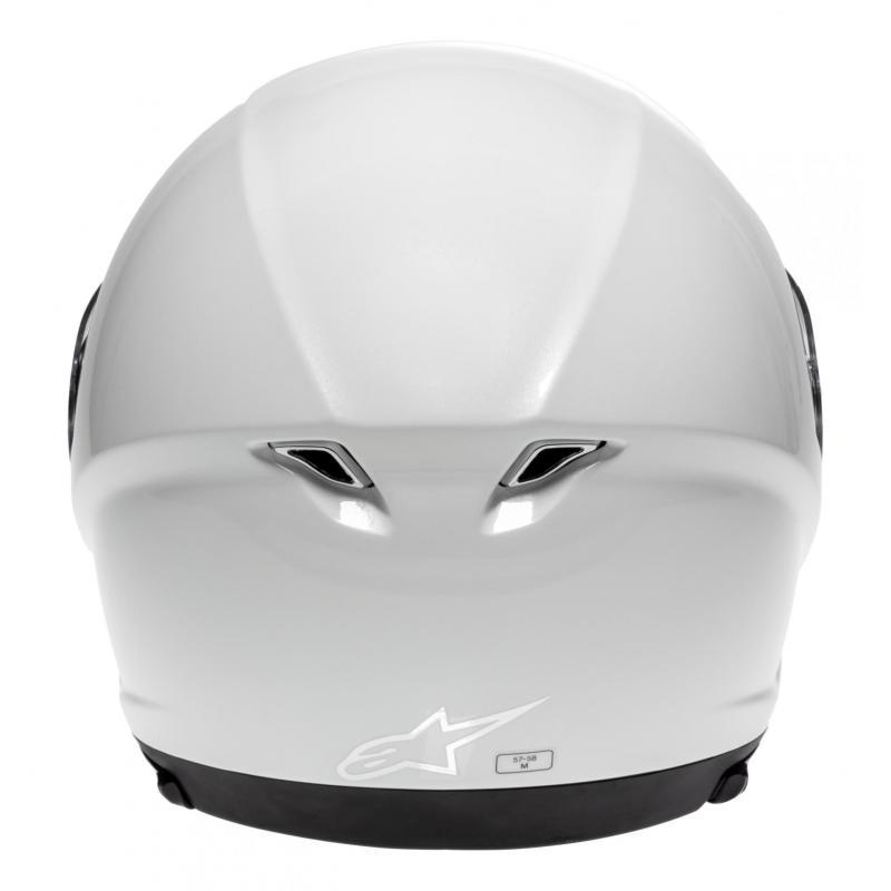 Casque jet Alpinestars Novus Solid blanc perle - 4
