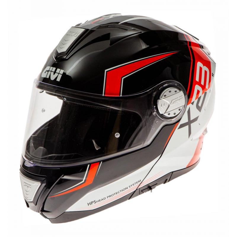 Casque modulable Givi X.23 Sydney Eclipse Viper noir mat/orange