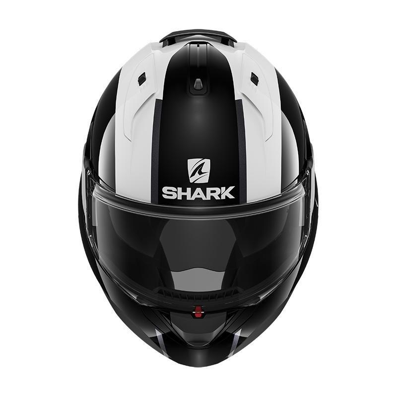 Casque modulable Shark EVO ES Endless blanc/noir/rouge - 4