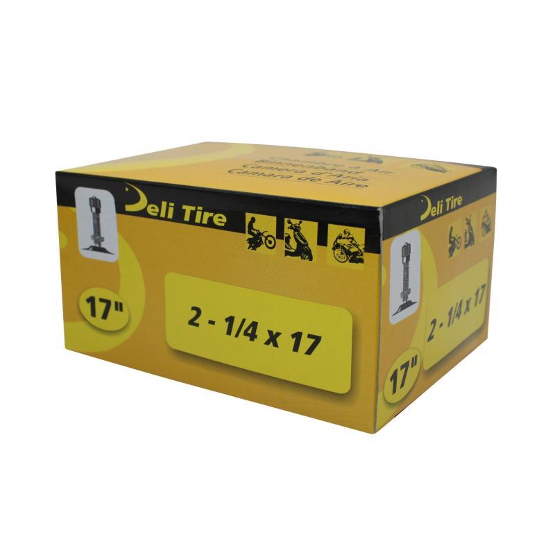 Chambre à Air 17 2 1/4x17 Vs Deli valve Droite Filetée avec Écrou