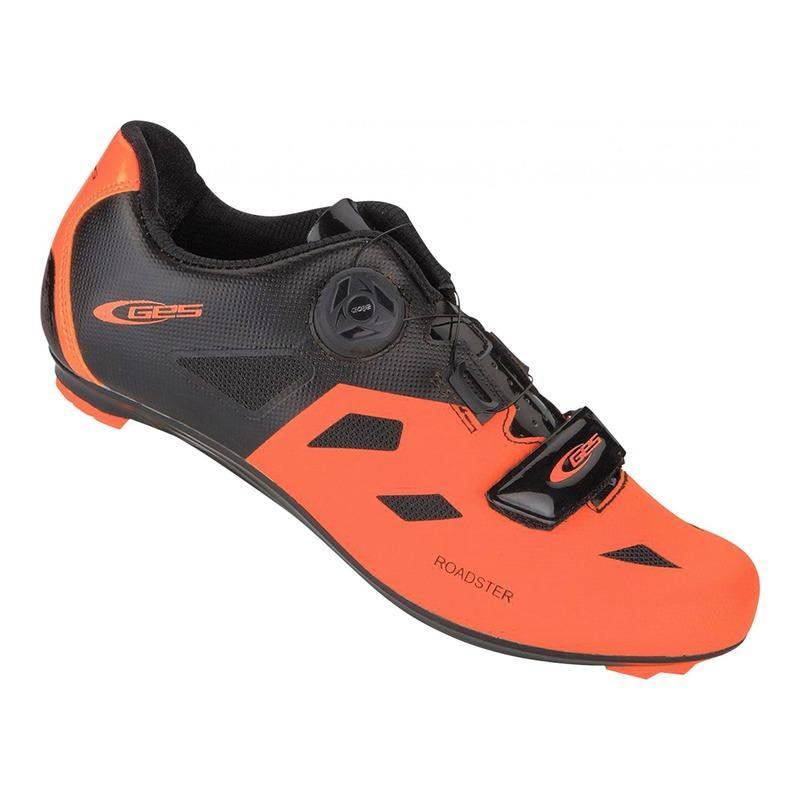 Chaussures vélo route GES Roadster jaune noir/orange
