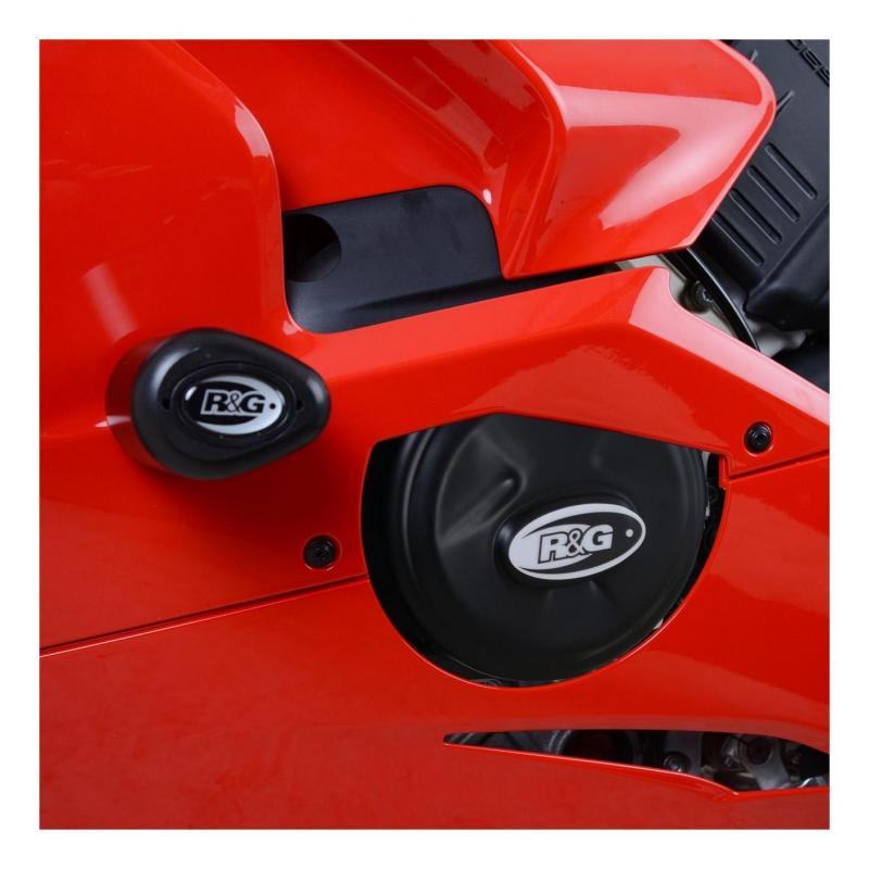 Couvre carter d'alternateur R&G Racing noir Ducati Panigale V4 17-18