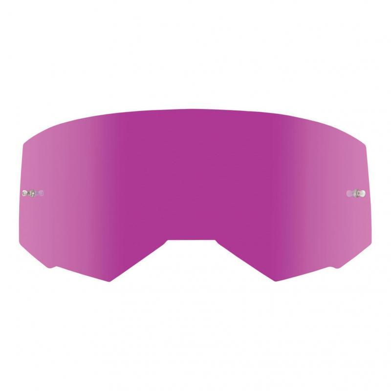 Ecran Fly Racing pour masque Zone, Zone Pro et Focus miroir rose/fumé