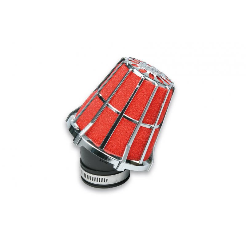Filtre à air Malossi Red Filter E5 D.48 incliné 30° chromé