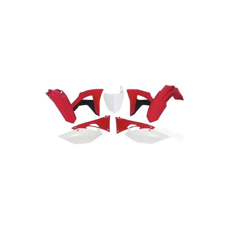 Kit plastique RTech Honda CRF 250RX 19-21 noir/rouge/blanc (couleur OEM)