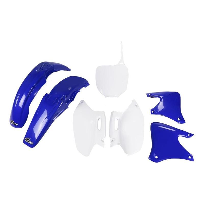 Kit plastique UFO Yamaha 250 YZ-F 01-02 bleu/blanc (couleur origine)