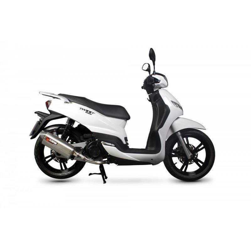 Ligne complète Scorpion Serket inox noir Peugeot Tweet 125 10-17 - 1
