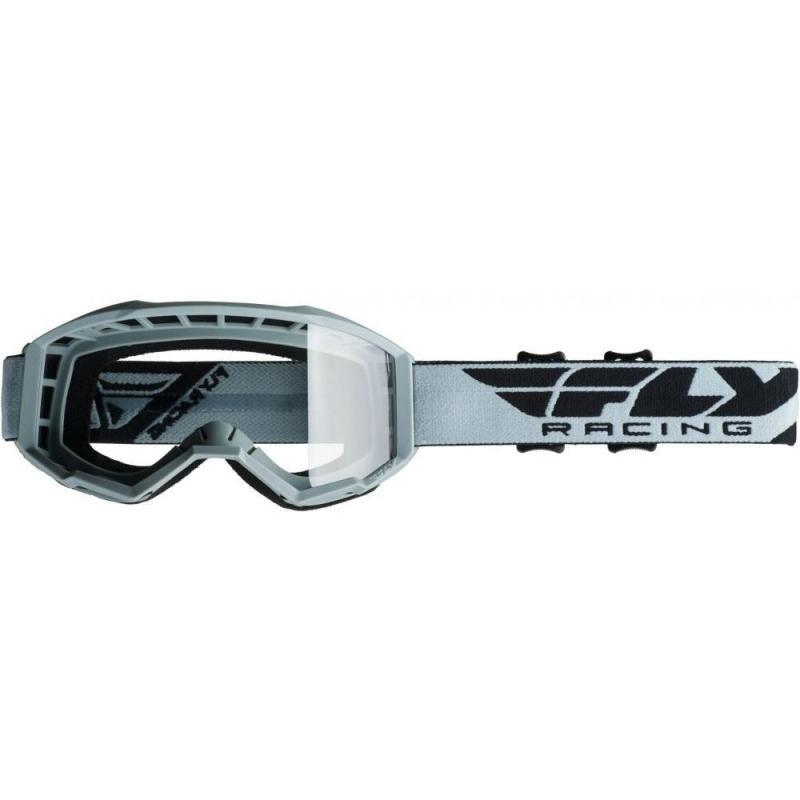 Masque cross Fly Racing Focus gris