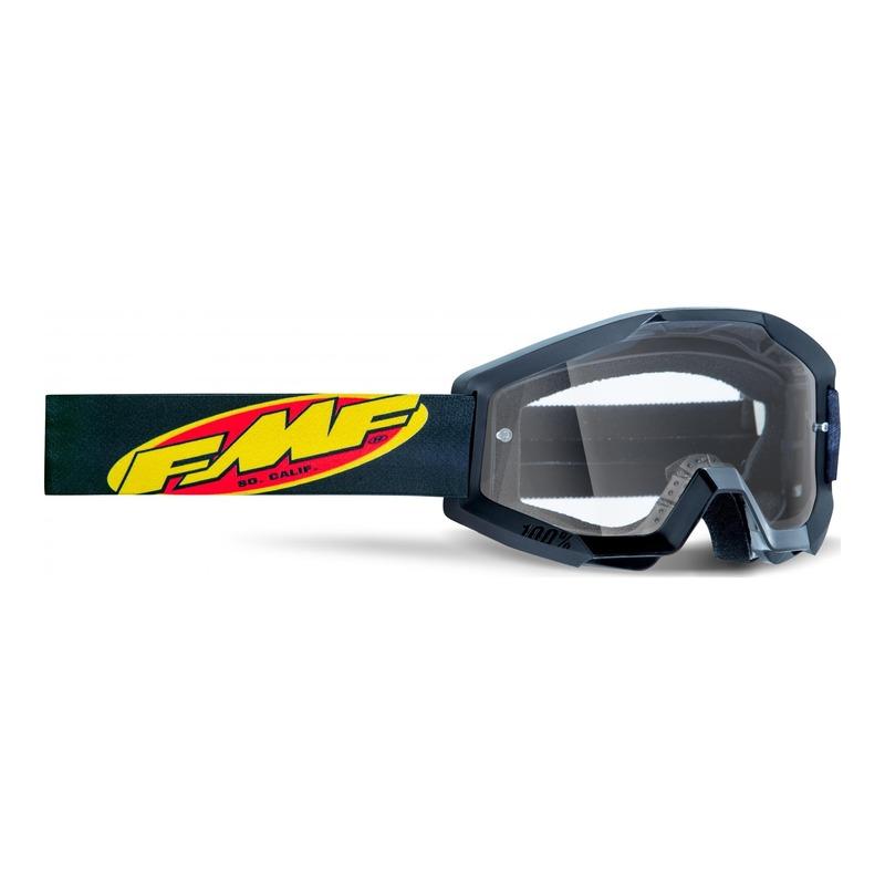 Masque cross FMF Vision PowerCore Core noir - écran clair
