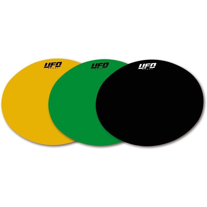 Planche adhésive ovale UFO pour plaque frontale vintage ovale type 76-83 jaune