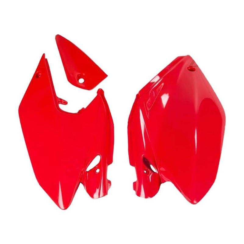 Plaque numéro latérale UFO Honda CRF 250X 04-13 rouge (rouge CR 00-12)