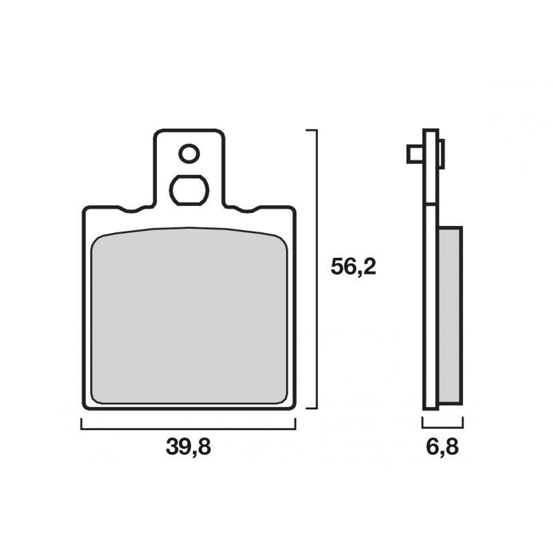 Plaquettes de frein Brembo carbone-céramique 07BB0106