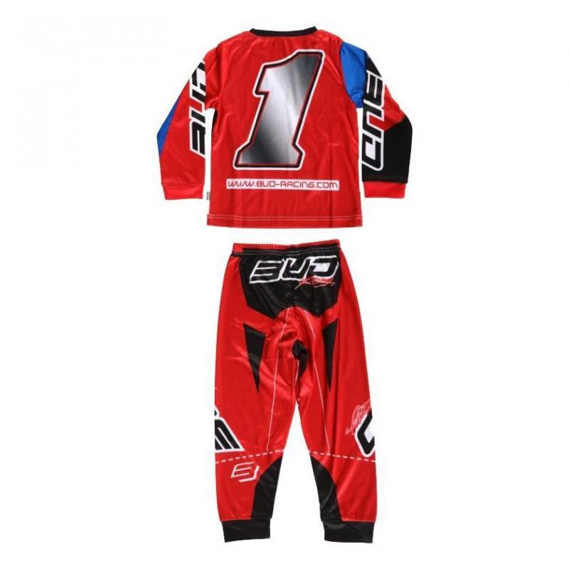 Pyjama 2 pièces Bud Racing 225 rouge - 1