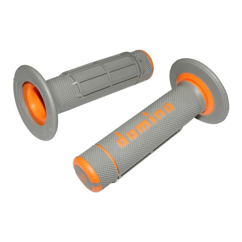 Revêtement poignée Domino Cross Bi-Composants Gris/Orange