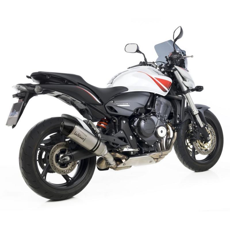 Silencieux Leovince LV One Evo inox casquette carbone pour Honda CB 600 F Hornet 07-13