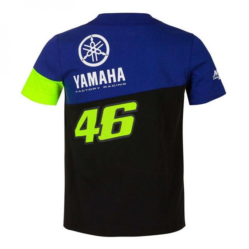 Tee-shirt enfant VR46 Racing Yamaha bleu/noir/jaune - 1