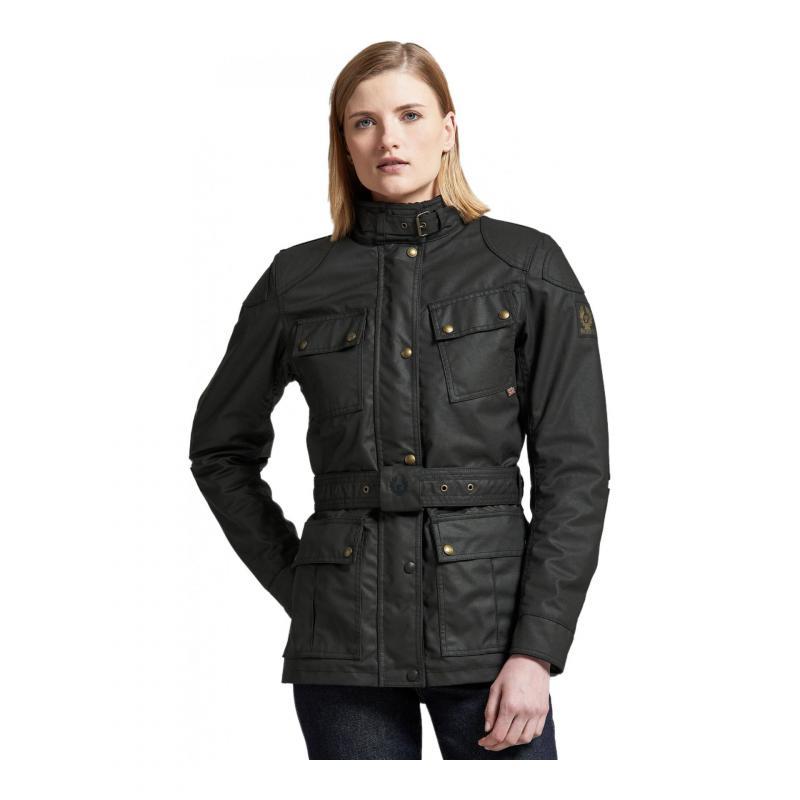 Veste textile femme Belstaff Trialmaster Pro Wax Racing Lady noir - 1