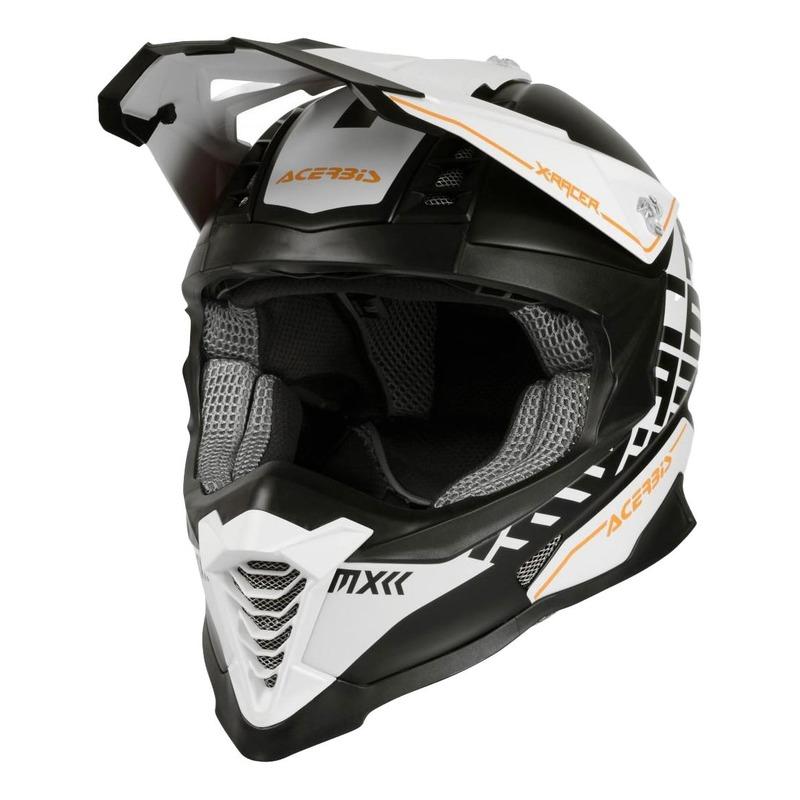 Casque cross Acerbis Impact X-Racer VTR blanc/noir/orange mat