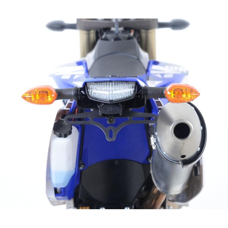 Support de plaque d'immatriculation R&G Racing noir Yamaha WR 450 F 12-15 - 1