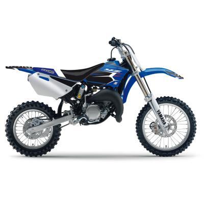 Kit déco + housse de selle Blackbird Dream Graphic 4 Yamaha 85 YZ 02-14 bleu/noir